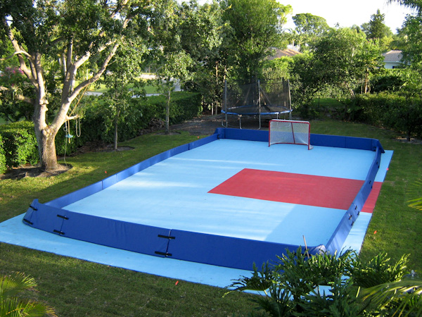 Backyard Ice Rink Installation : Mix and match heights so you get greater containment in the corners or